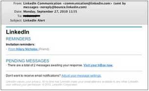 E-mail giả mạng xã hội LinkedIn.
