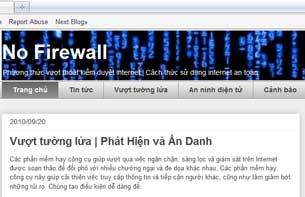 Giao diện trang web www.nofirewall.net