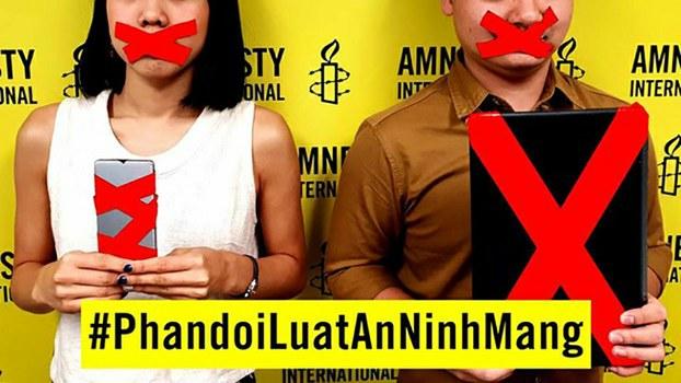 Áp phích Phản đối Luật An Ninh Mạng