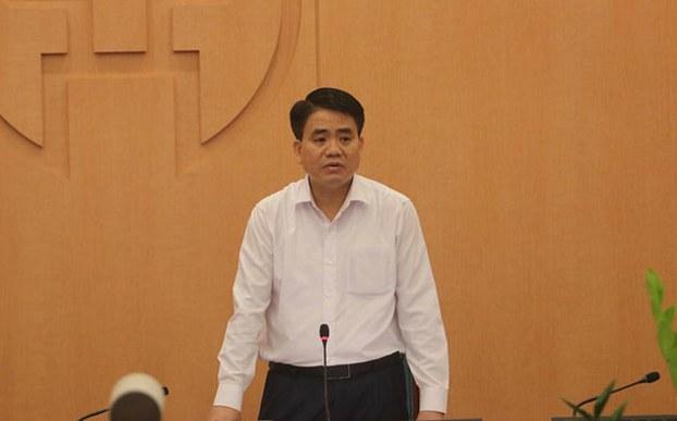 Ông Nguyễn Đức Chung tại cuộc họp Ban chỉ đạo phòng, chống dịch COVID-19, chiều ngày 23 tháng 3 năm 2020.