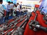 Gian hàng của Công ty Phụ tùng ôtô Quangzhou Mingyang của Trung Quốc tại một cuộc Triển lãm Vietnam AutoExpo ở Hà Nội.