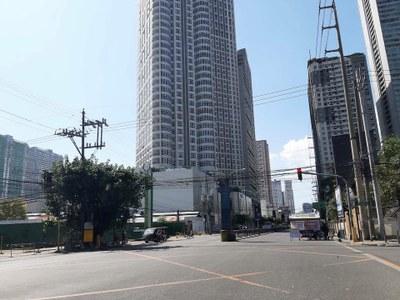 Chốt kiểm tra trên phố ở Philippines