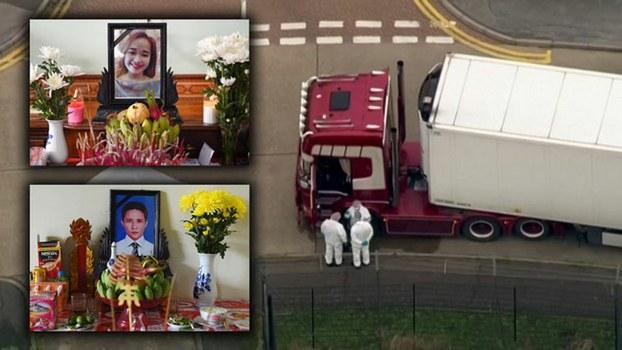 Hình minh họa. Hai người mất tích ở Anh và chiếc xe tải chở xác 39 người