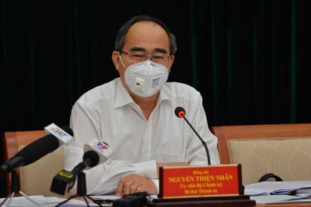 Bí thư Nguyễn Thiện Nhân chủ trì giao ban trực tuyến 26/3/2020.