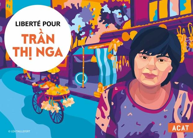 Bà Trần Thị Nga được tổ chức ACAT-France tặng giải nhân quyền Engel-Du-Tertre