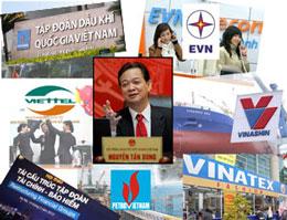Các Tập đoàn cột trụ của kinh tế quốc gia. RFA file