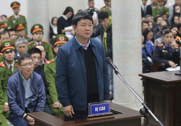 Hình minh họa. Cựu Ủy viên Bộ Chính trị Đinh La Thăng và cựu Chủ tịch Hội đồng quản trị PVN Trịnh Xuân Thanh tại phiên tòa ở Hà Nội hôm 8/1/2018
