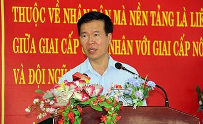 Ông Võ Văn Thưởng, trưởng ban Tuyên giáo Trung ương đảng cộng sản VN