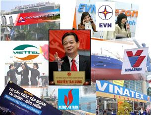 Các Tập đoàn cột trụ của kinh tế quốc gia.