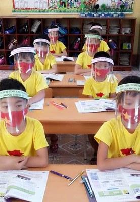 Các em học sinh lớp 2 của trường Tiểu học Thạch Bình, Nho Quan, tỉnh Ninh Bình.