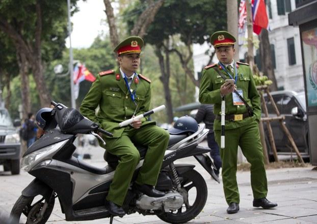 Công an Việt Nam. Ảnh chụp tại Hà Nội hôm 27/2/2019.