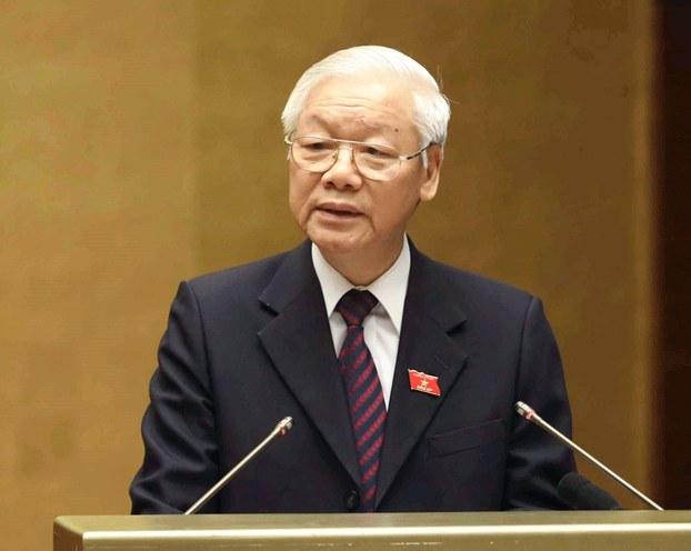Hình minh họa. Tổng Bí thư - Chủ tịch nước Nguyễn Phú Trọng phát biểu trước quốc hội hôm 2/11/2018