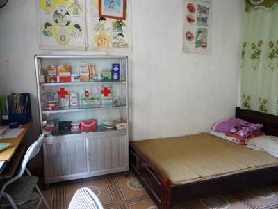 Phòng y tế của một trường học ở Thái Nguyên. Photo courtesy of thainguyen.edu.vn
