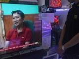 Màn hình TV chiếu hình ông Trịnh Xuân Thanh trên VTV ở Hà Nội hôm 4/8/2017