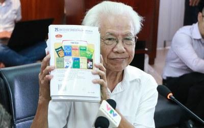 Giáo sư Hồ Ngọc Đại và Bộ sách giáo khoa - Công nghệ giáo dục. (Ảnh minh họa)