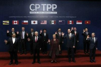 Lãnh đạo ngành công thương các nước thành viên chuẩn bị ký kết hiệp CPTPP tại Chile tháng 3/2018.
