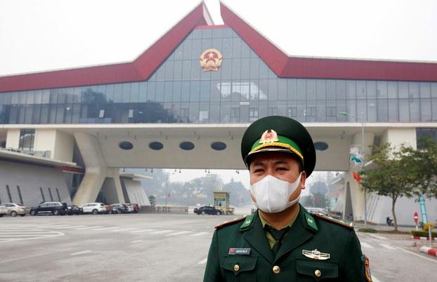 Cửa khẩu Lạng Sơn hôm 20/2/2020.