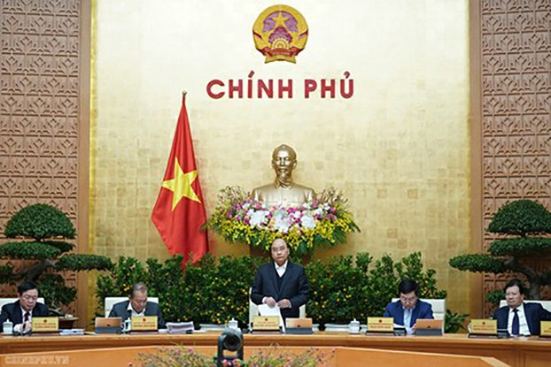 Thủ tướng Nguyễn Xuân Phúc tại phiên họp Chính phủ thường kỳ tháng 1/2020, ngày 05/02/2020.