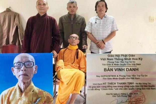 Bức ảnh đăng kèm bài viết này, ghép chung từ 3 bức ảnh, đều có liên quan đến HT Thích Thanh Tịnh.