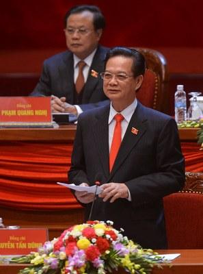 Hình minh họa. Thủ tướng Nguyễn Tấn Dũng phát biểu tại lễ khai mạc Đại hội Đảng 12 ở Hà Nội hôm 21/1/2016