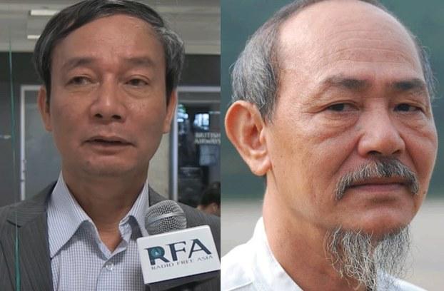 Hình minh hoạ. Nhà báo Nguyễn Tường Thuỵ (trái) và nhà báo Phạm Thành (phải)