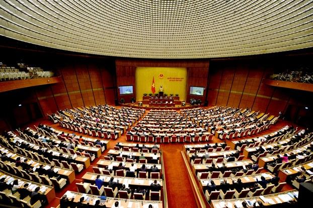 Hình minh họa. Quốc hội Việt Nam họp hôm 22/10/2018