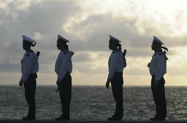 Hình minh hoạ. Lính hải quân VN đi tuần ở Trường Sa Đông, quần đảo Trường Sa