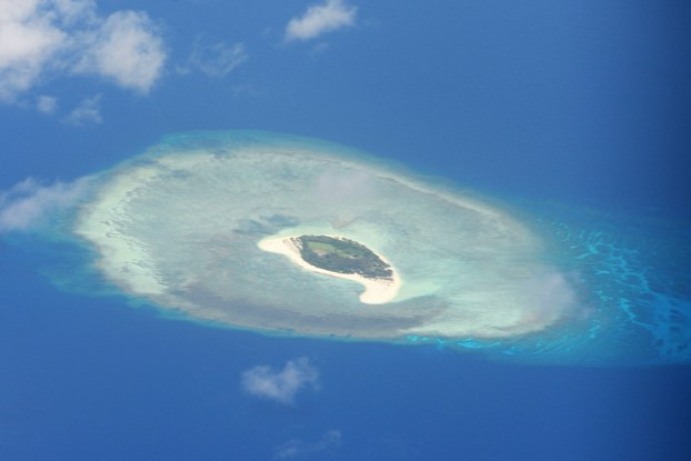 Hình minh hoạ. Hình chụp vệ tinh hôm 21/4/2017: quần đảo Trường Sa ở Biển Đông
