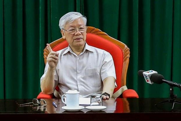 Ảnh minh họa: Hình ông Nguyễn Phú Trọng chụp hôm 14/5/2019