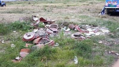 Hiện trường vụ đập phá hang đá và tượng Đức Mẹ tại Vườn Rau Lộc Hưng hôm 8/12/2019