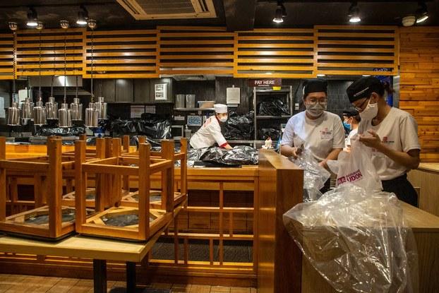 Hình minh hoạ. Một quán ăn ở Sài Gòn đóng cửa trong dịch COVID-19