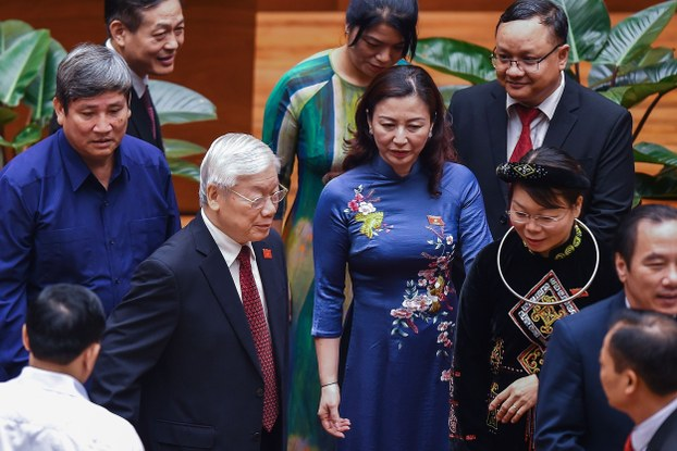 Ông Nguyễn Phú Trọng tại kỳ họp thứ 8 Quốc hội Việt Nam khóa XIV ngày 21/10/2019