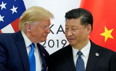 Hình minh hoạ. Tổng thống Hoa Kỳ Donald Trump và Chủ tịch Trung Quốc Tập Cận Bình bên lề Thượng đỉnh G20 ở Nhật Bản hôm 29/6/2019