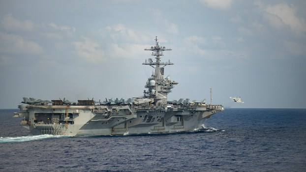 Hình minh hoạ. Tàu sân bay của Mỹ USS Theodore Roosevelt ở biển Philippines hôm 18/3/2020