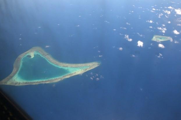 Hình minh hoạ. Hình chụp vệ tinh các bãi ở quần đảo Trường Sa hôm 21/4/2017