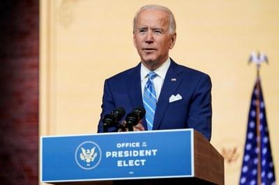 Hình minh hoạ. Tổng thống đắc cử Joe Biden tại Wilmington, Delaware, Mỹ hôm 25/11/2020