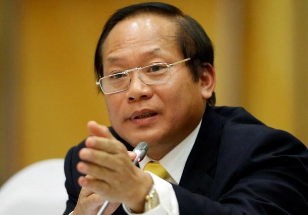Hình minh họa. Cựu Bộ trưởng Thông tin và Truyền thông Trương Minh Tuấn tại một họp báo ở Hà Nội hôm 30/6/2016