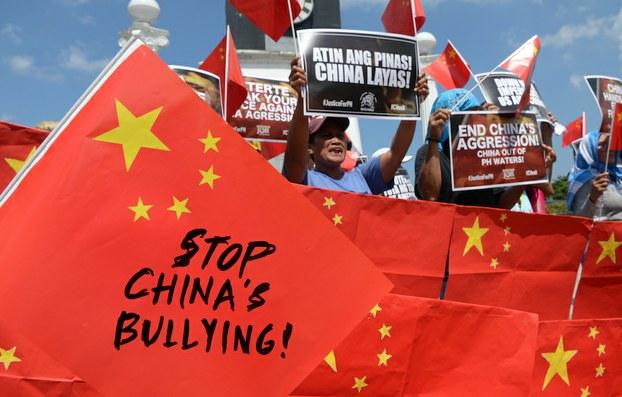 Hình minh hoạ. Biểu tình phản đối Trung Quốc ở Manila, Philippines hôm 18/6/2019