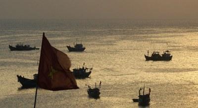 Hình minh hoạ. Tàu cá ngư dân ở đảo Lý Sơn, tỉnh Quảng Ngãi hôm 10/4/2012