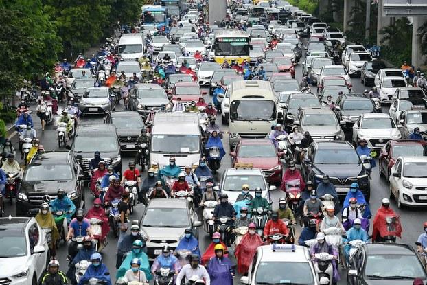 Hình minh hoạ. Giao thông ở Hà Nội hôm 12/5/2020
