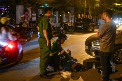 Hình minh hoạ. Một vụ tai nạn trên đường ở Hà Nội hôm 19/5/2020