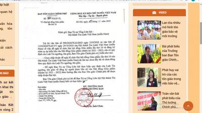 Ảnh chụp màn hình btgcp.gov.vn: Công văn của Ban Tôn giáo Chính phủ chưa chấp thuận cho HTTLVN tổ chức Đại hội