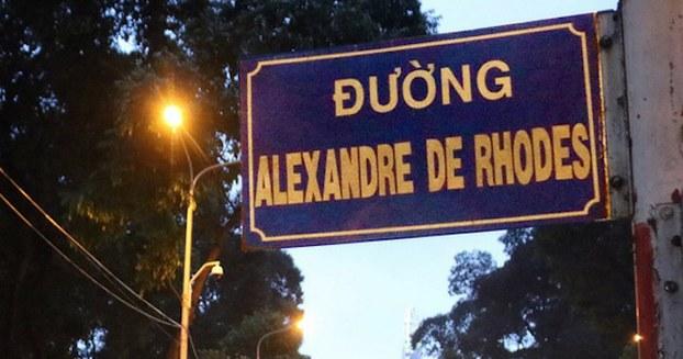 Hình minh hoạ. Biển tên đường Alexandre De Rhodes ở TP. Hồ Chí Minh