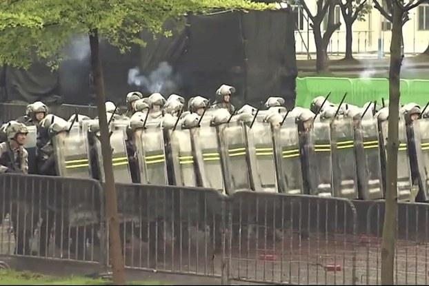Hình minh  họa. Hình chụp từ video công bố hôm 1/8/2019 của quân đội Trung Quốc trú đóng ở Hong Kong cho thấy quân lính đang diễn tập chống bạo đọng ở Hong Kong