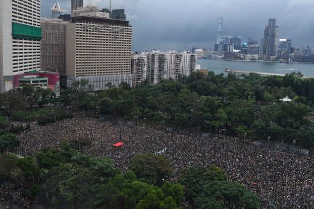 Biểu tình tại Công viên Victoria, Hong Kong vào ngày chủ nhật 18/8/2019