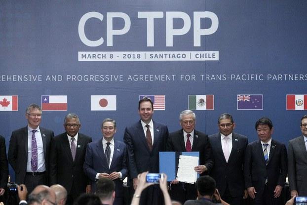 Ảnh minh họa. Đại diện của các nước thành viên CPTPP tại Chile hôm 8/3/2018.