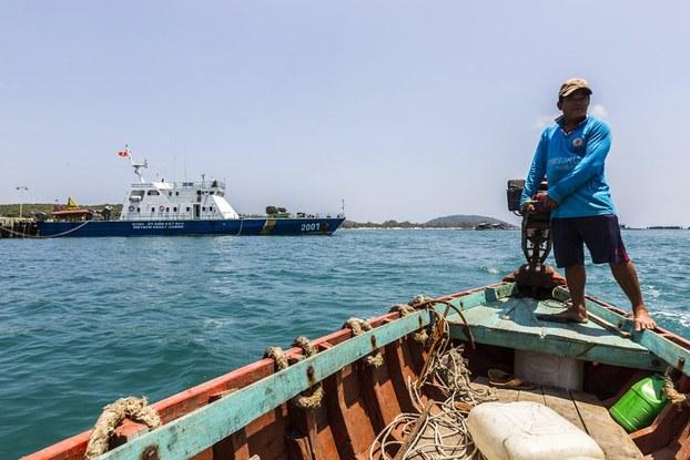 Hình minh họa. Tàu cá ngư dân Việt Nam ở Phú Quốc hôm 13/3/2014
