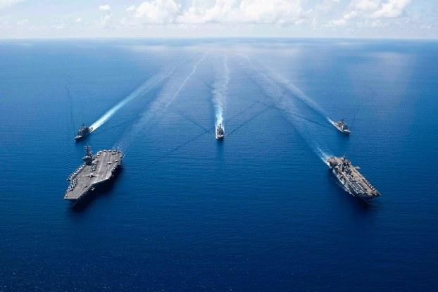 Hình minh họa. Nhóm tàu sân bay USS Ronald Reagan