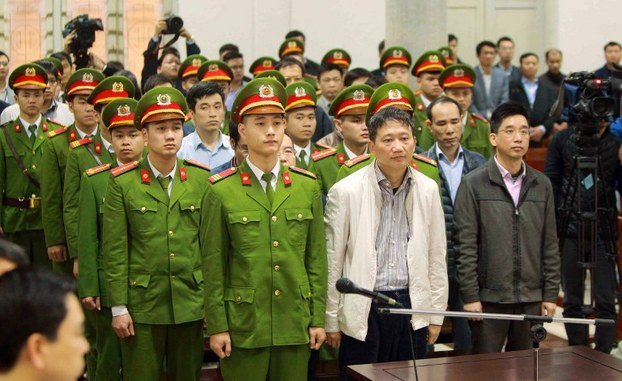 Tòa xử Trịnh Xuân Thanh ngày 22 tháng giêng năm 2018 tại Hà Nội