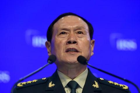 Bộ trưởng Quốc phòng Nguỵ Phượng Hoà tại Đối thoại Shangri-La ở Singapore hôm 2/6/2019